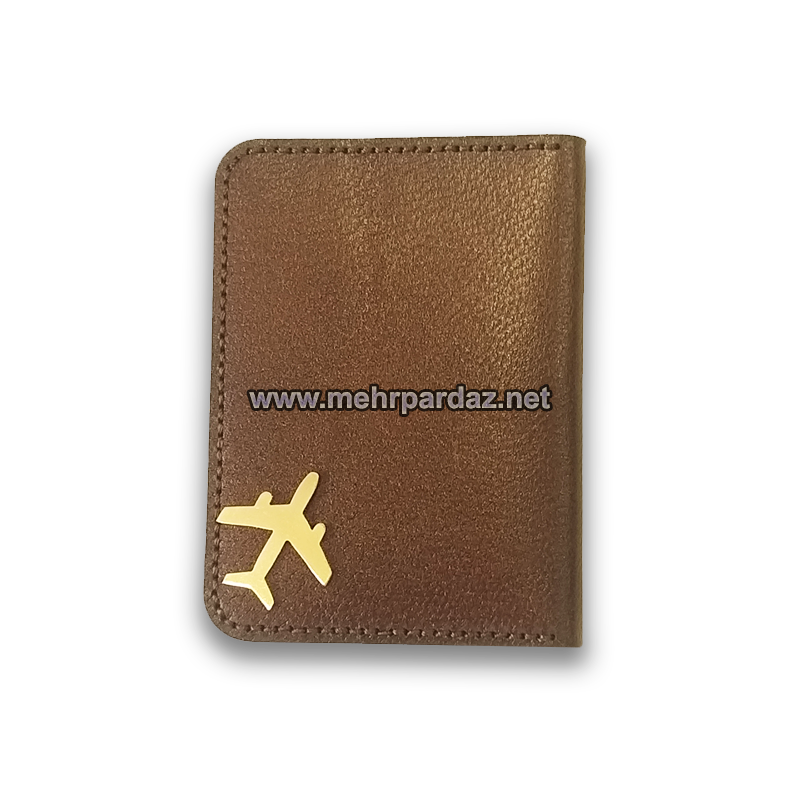 Airplane Leather Card Case