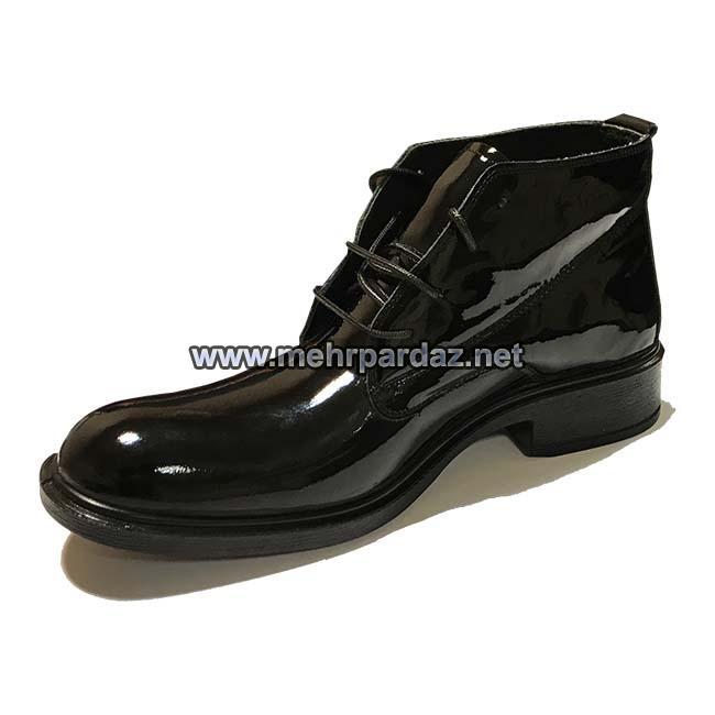 Varnished Leather Pilot Boot