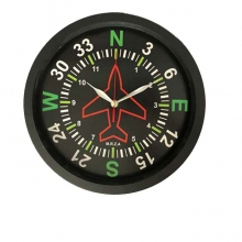 Directional Gyro Wall Clock 12in