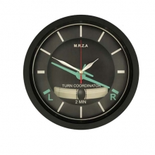 Turn Coordinator Wall Clock 12in
