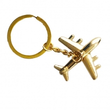 Metal Airplane Keyring