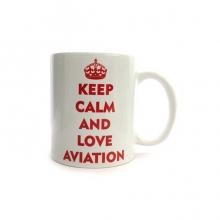 Keep Calm and Love Aviation Mug