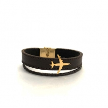 Airplane Leather Bracelet - Type D