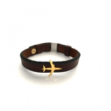 Airplane Leather Bracelet - Type E