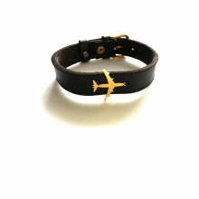 Airplane Leather Bracelet - Type H