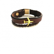 Airplane Leather Bracelet - Type J