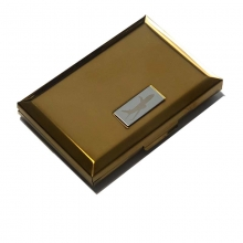 Airplane Business Card Case - Gold