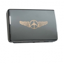 Airplane Business Card Case - Silver