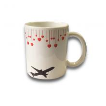 Aircraft Heart Mug