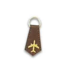 Airplane Leather Keyring