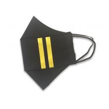 Two Epaulette Bars Pilot Face Mask