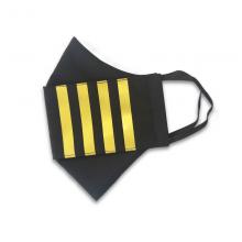 Four Epaulette Bars Pilot Face Mask