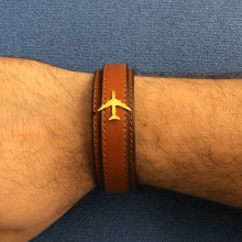 Airplane Leather Bracelet - Type L