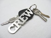 Stainless Steel Crew Keychain