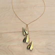 3PC Paper Plane Necklace