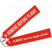 A380 Remove Before Flight Large Keyring