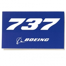 737 Blue Sticker