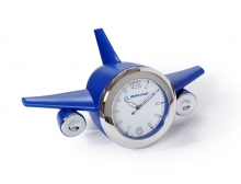 Boeing Blue Airplane Desk Clock