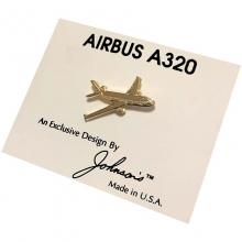 A320 Gold Tackette Pin