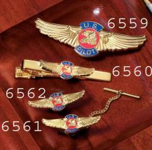 US Pilot Wings Tie Bar