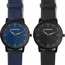 Boeing Black Chrome Watch